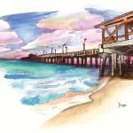 """Gulf State Pier - Alabama"" by berreyart"