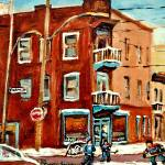 """MONTREAL LANDMARKS PAINTED BY CAROLE SPANDAU STREE"" by carolespandau"