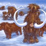 """Wooly Rhino and Mammoths"" by Fany"