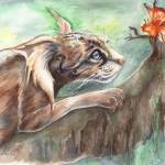 """MythCat & Butterfly"" by Artlair"