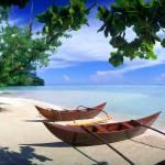 """HanaIti Beach Huahine Island Tahiti"" by rdwittle"
