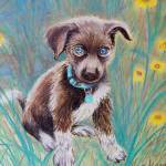 """Precious Puppy in pastel"" by DeborahWillardDesign"