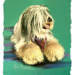"""Old English Sheepdog"" by DeborahWillardDesign"
