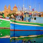 """Marsaxlokk Fishing Boats Malta"" by rdwittle"