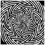 """please-stop-spinning-optical-illusion-maze-art-yon"" by mazes"
