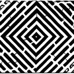 """diamond-square-optical-illusion-maze-art-yonatan-f"" by mazes"