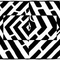 an-optical-illusion-maze-of-floating-square-eye-hu Art Prints & Posters by Yonatan Frimer