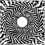 """psychedelic-swirly-maze-yonatan-frimer-mazes-optic"" by mazes"