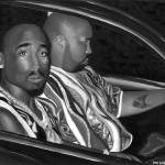 """Tupac Limited Edition Black&White version"" by jerrylavignejr"