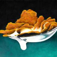 Cereal In Spoon With Milk Art Prints & Posters by Janice Dunbar