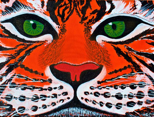 Balinese tiger drawing