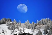 moonrise over little cottonwood canyon area 22