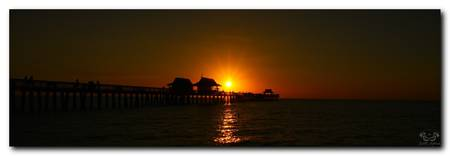 Naples Pier Sunset Pano