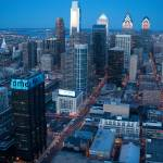"""2011 Philadelphia Night Skyline"" by Philadelphia_photographer"