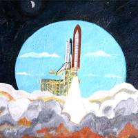 Space Shuttle Art Prints & Posters by Paintings by gretzky