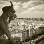 """Gargoyle atop Notre Dame"" by streetlevel"