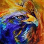 """GOLDEN EAGLE ABSTRACT"" by MBaldwinFineArt2006"