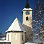 """Kirche St. Sebastian in Serneus"" by MaggieBernet"