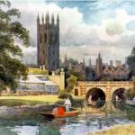 """Magdalen College From The Cherwell"" by artbygeorge"