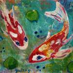 """Koi Pond II"" by paintingsbygretzky"