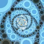 """Dusk Swirl 1 Circle Art - Medium"" by jbhaber"