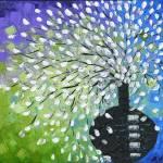 """fountain bouquet of white flowers"" by modernhouseart"