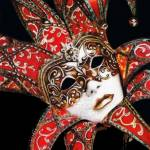 """Crimson Carnivale Mask"" by KarenHull"