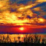 """Canada - Sunset on Lake Huron"" by Marina_L"