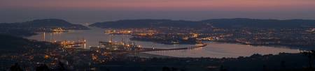 Panorama of Ferrol's Ria from Couto do Rei, Fene.