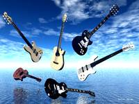 Floating Guitars