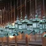 """Hanging lanterns in Nara, Japan"" by JoEllis"