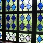 """Blue stained glass window in Suzhou, China"" by JoEllis"