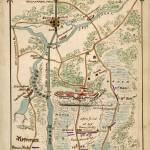"""Plan of Battle of South Mills, Dismal Swamp Canal,"" by burnishedbronzepress"