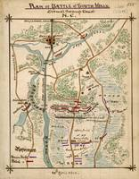 Plan of Battle of South Mills, Dismal Swamp Canal,