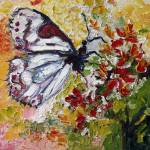 """White Butterfly Oil Painting by Ginette Callaway"" by GinetteCallaway"
