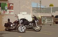 Route 66 Motorcycles with a