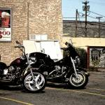 """Route 66 Motorcycles with a ""Brush Strokes"" Effect"" by Ffooter"
