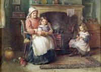 Bedtime Story, 1910 (w/c on paper)