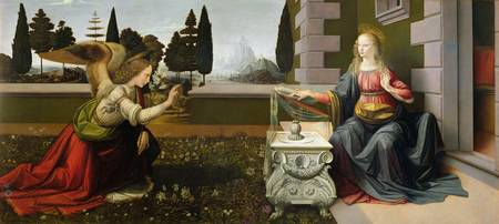 Annunciation, 1472-75 (oil on panel) (post-restora