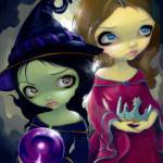 """Wicked Witch and Glinda"" by strangeling"