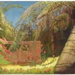 """Bougainvillea Garden in Mexico"" by LeonSarantosArtist"