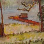 """Dockside at Camp Wausaukee Wisconsin"" by LeonSarantosArtist"
