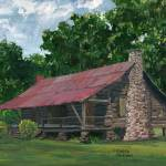 """Old Dogtrot House in Louisiana, near Dubach"" by Lenora"