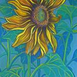"""Big Bold Sunflower"" by DeborahWillardDesign"