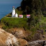 """Heceta Head Lighthouse pano 1"" by pbk"