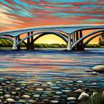 """Folsom Bridge"" by ElizaArt"