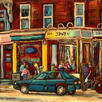 """JAVA U COFFEE SHOP MONTREAL"" by carolespandau"