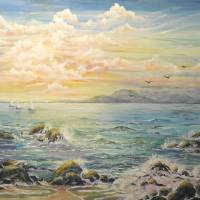 Late Afternoon Seascape Art Prints & Posters by Consuelo Yznaga-Davis