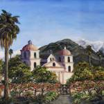 """Santa Barbara Mission"" by StoneMeadowGallery"