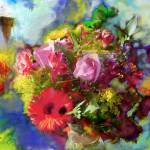 """The Florist, Digital Oil Brushes"" by tedazrielgraphicart"